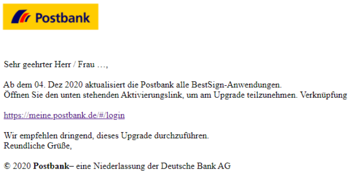 Postbank best sign app