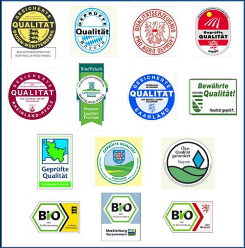 Regionale Herkunftszeichen
